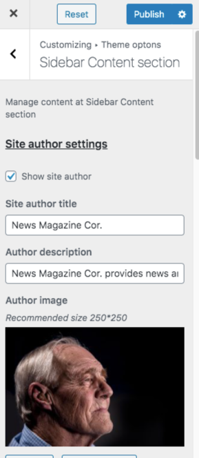 sidebar content color newsmagazine