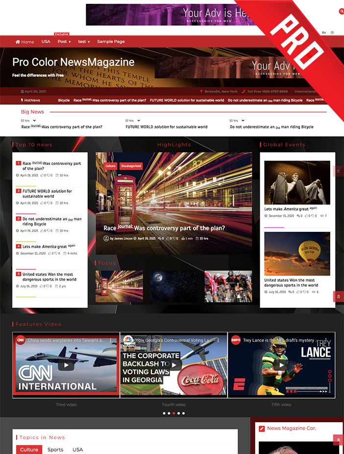 pro color newsmagazine theme
